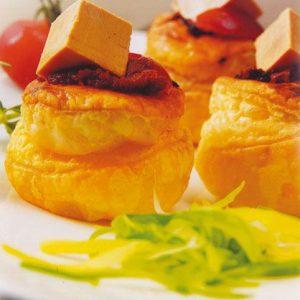 feuilleté de tomate au foie gras de canard recette