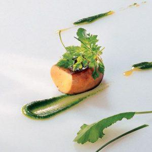 Foie gras de canard grillé aux herbes aromatiques recette