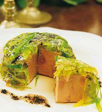 Aspic de foie gras au poireau et truffes recette