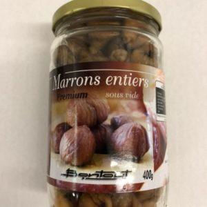 marrons entiers cuits à l'étouffée