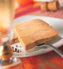 foie gras mi cuit tranche