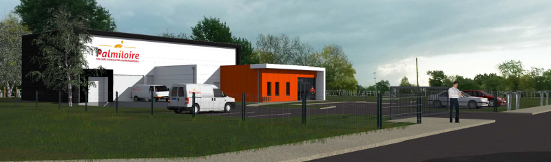 nouveau bâtiment MIN pôle agroalimentaire Rezé Palmiloire